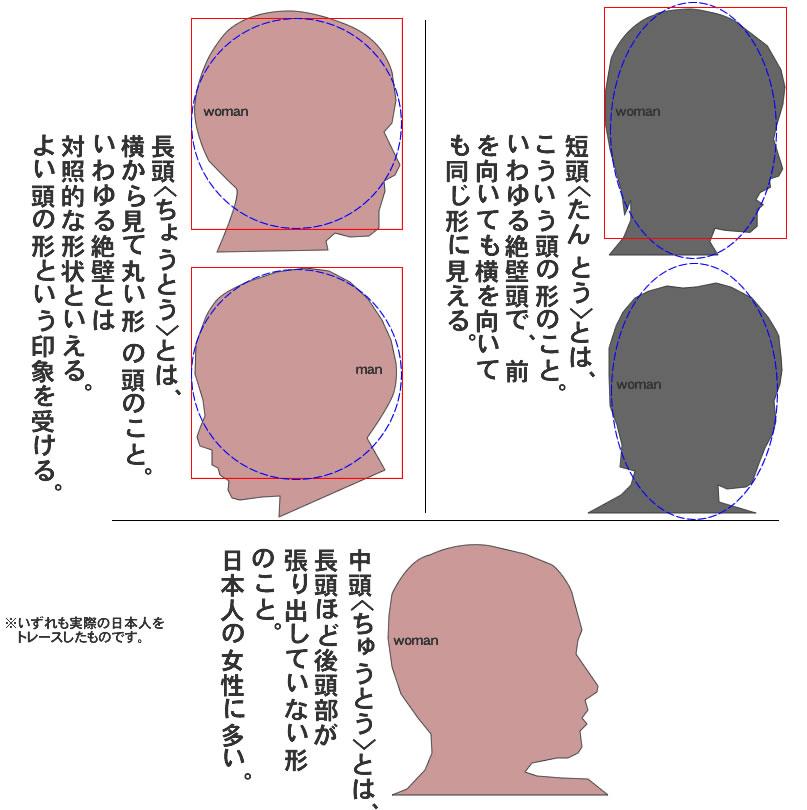 長頭とは短頭とは